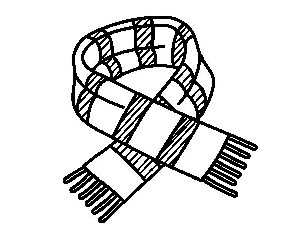 striped scarf coloring page coloringcrewcom