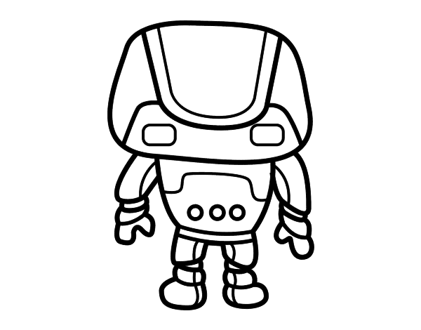 Strong robot coloring page - Coloringcrew.com