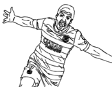 Suárez celebrating a goal coloring page