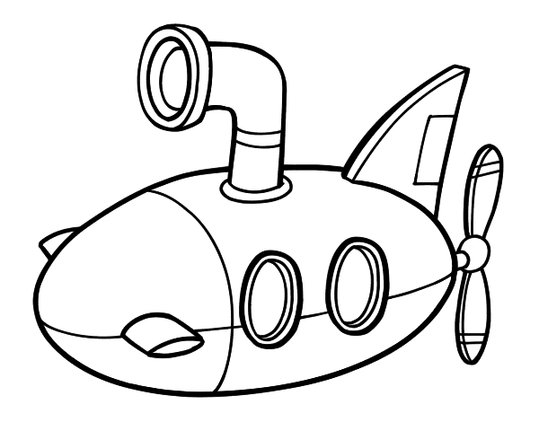 coloring pages of a submarine - photo#18