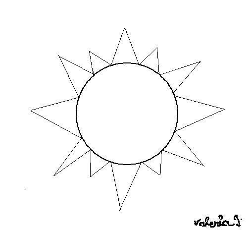 Sun 4a coloring page