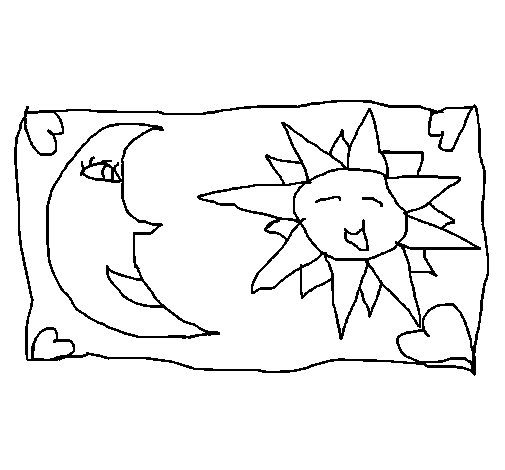 Planet Earth in Front of the Sun coloring page  Free