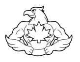 Super bird coloring page