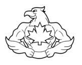 Super bird coloring page
