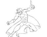 Super boy coloring page