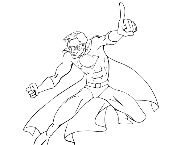 super boy coloring pages - photo#28