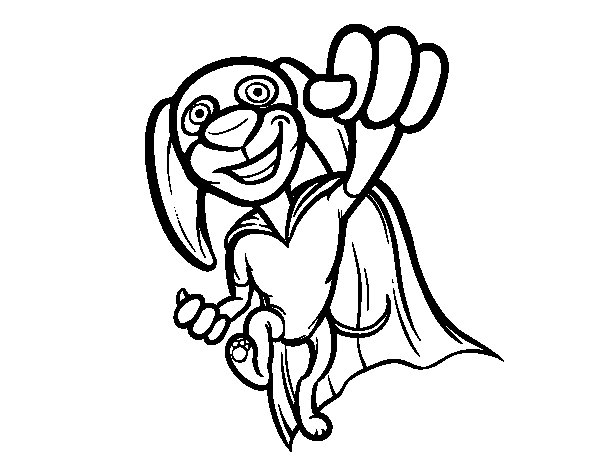 Super-dog coloring page