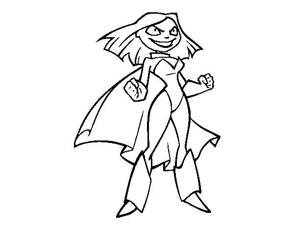 Super Little Girl coloring page