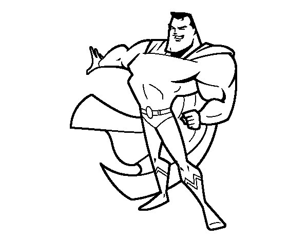 Super-man coloring page
