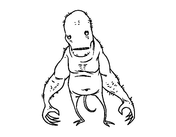 Super ugly monster coloring page
