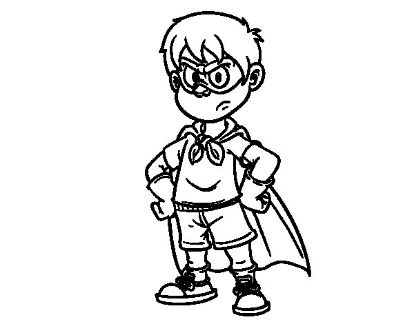 Superboy coloring page