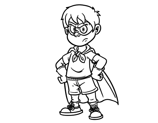 super boy coloring pages - photo#2
