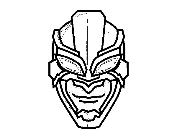 Superhero mask coloring page