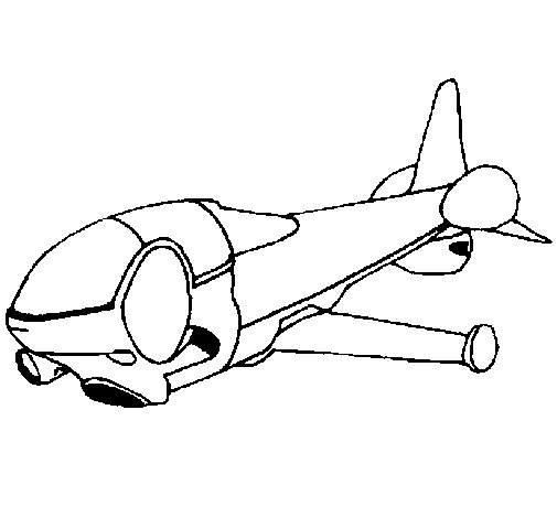 Supersonic ship coloring page