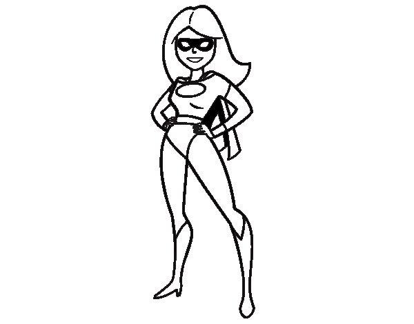 Superwoman coloring page