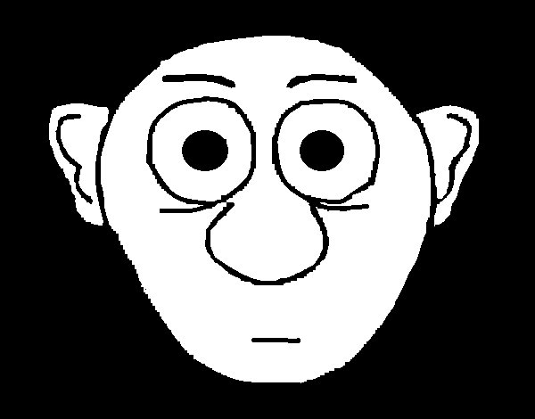 Surprised face coloring page
