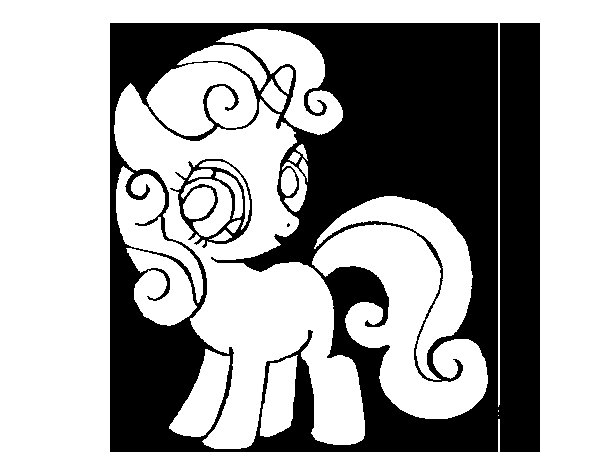 Sweetie belle coloring page