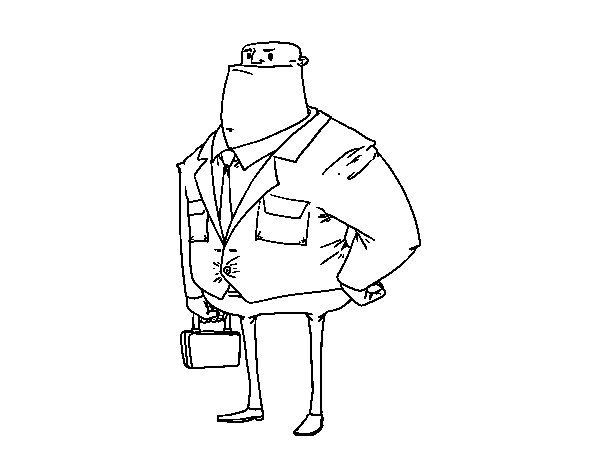 Swindler coloring page