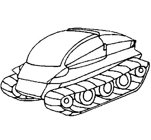 Tank ship coloring page