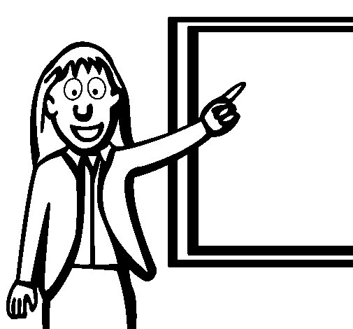Teacher II coloring page