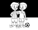 Teammates coloring page