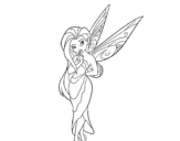 Teenager fairy coloring page