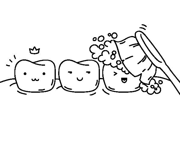 Teeth coloring page - Coloringcrew.com