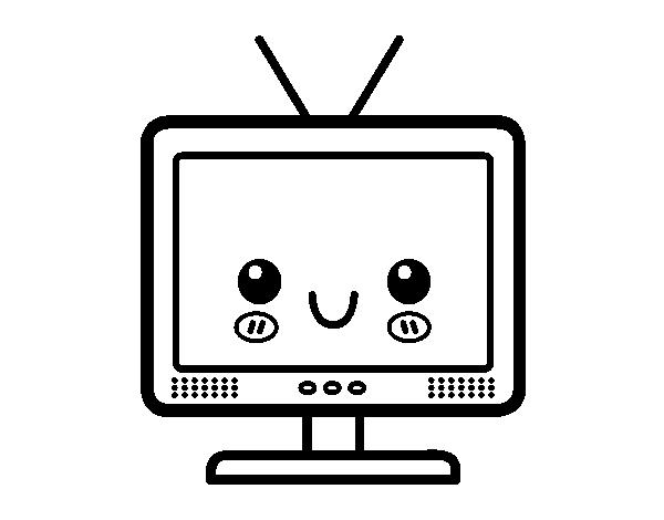 Television Coloring Page - Democraciaejustica
