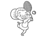 Tennis player coloring page