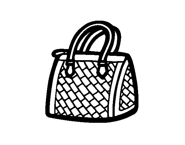 Textured bag coloring page