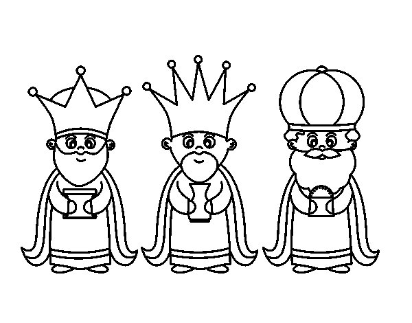 The 3 Wise Men coloring page