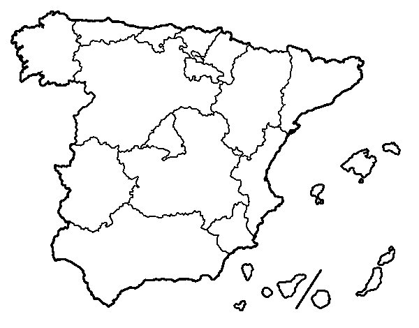The Autonomous Communities of Spain coloring page Coloringcrewcom