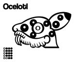 The Aztecs days: the Jaguar Ocelotl coloring page