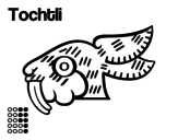 The Aztecs days: the Rabbit Tochtli coloring page