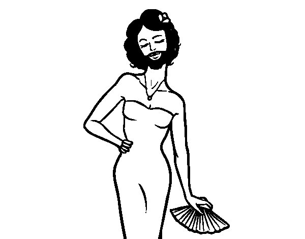 The bearded lady coloring page