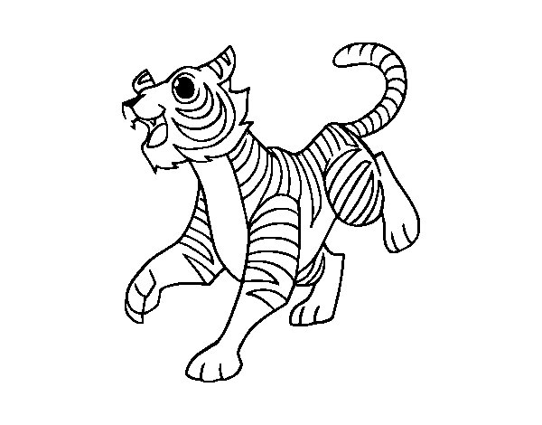 The Bengal tiger coloring page