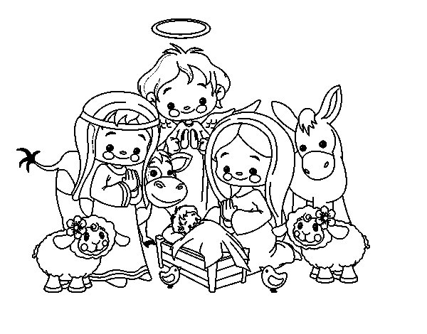 The birth coloring page