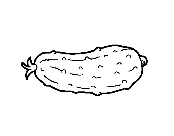 The cucumber coloring page