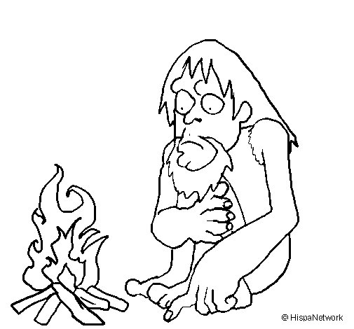The discovery of fire coloring page