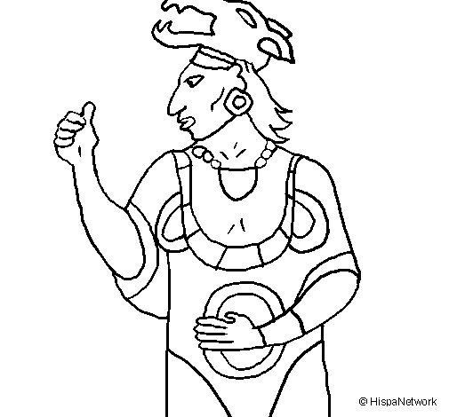 The god Ah Puch coloring page