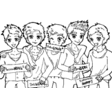 Dibujo de The guys of One Direction