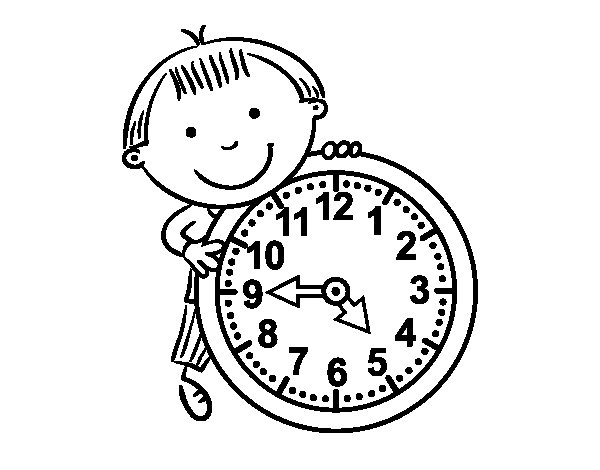 The hours coloring page