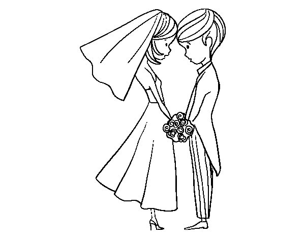 The husband and the wife coloring page