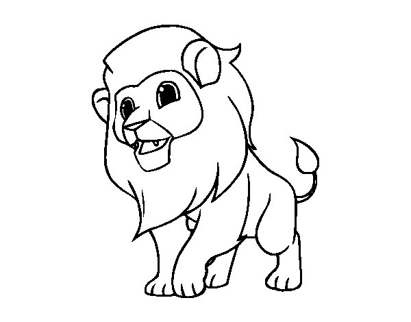 The king of the jungle coloring page