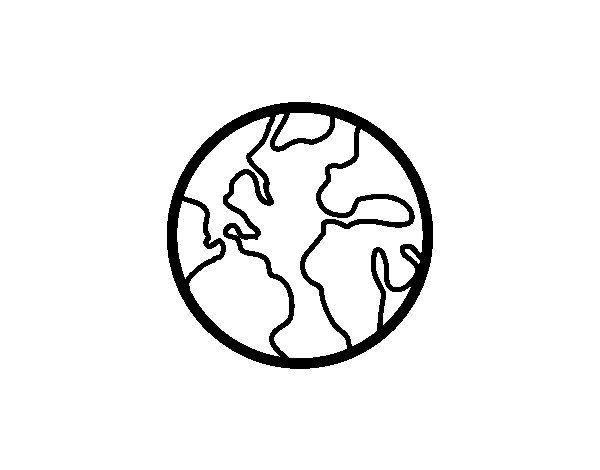The planet Earth coloring page