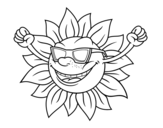Dibujo de The sun with sunglasses