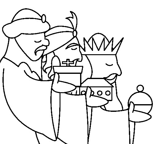 The Three Wise Men 3 coloring page