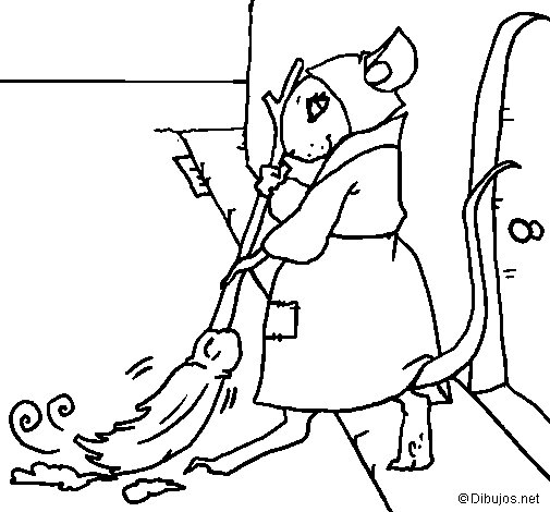 The vain little mouse 1 coloring page