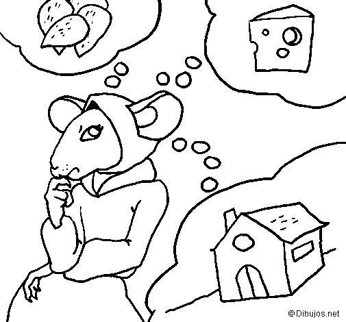 The vain little mouse 4 coloring page