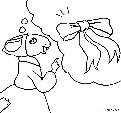 The vain little mouse 5 coloring page